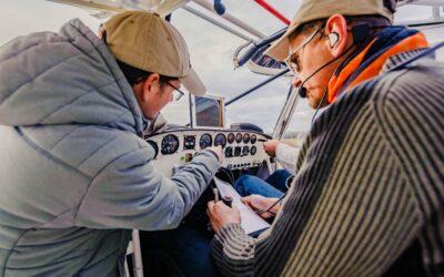 Pilotage avion dans les Vosges