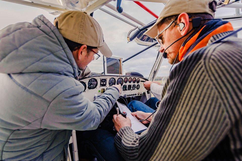 Leçon de pilotage ULM Vosges