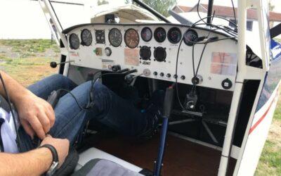 Leçon de pilotage avion dans les Vosges